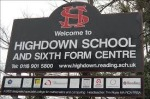 Highdown School sign
