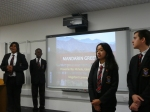 Students from Kingsford deliver an online Chinese lesson