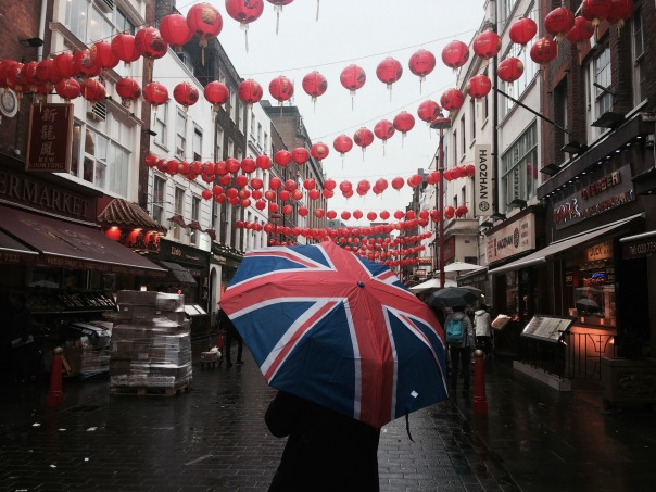 Olivia Daniels, My Life and China, Ibstock Place School, a trip to Chinatown for lunch Chicken Chow-RAIN, 14-Jul-2003